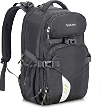 Endurax Video Camera Backpack Fit 2 DSLR/SLR Camera, 3-5 Lenses, 15.6 inch Laptop for Outdoor Travel (Grey)