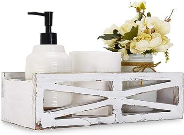 Y&ME Wooden Toilet Tank Box, Farmhouse Bathroom Decor Box, RusticWoodenToiletPaperOrganizerBox, Toilet Paper Storage