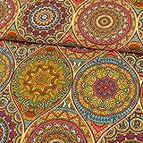 Stoffe Werning Dekostoff Mandalas bunt Canvasstoffe