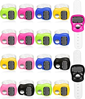 Tatuo 18 Pieces Hand Tally Counter 5 Digital Finger Counter Clickers Resettable Lap Counter Handheld Mechanical Number Click Counter, 6 Colors