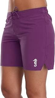 Sociala Women's Solid Board Shorts Swim Trunks Beach Boardshorts Swimwear