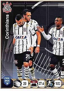 2015-16 Panini FIFA 365 Stickers Soccer #177 Corinthians Team/1 Trading Card Sized Album Sticker