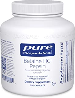 Pure Encapsulations Betaine HCl Pepsin | Digestive Enzyme Supplement for Digestive Aid and Support, Stomach Acid, and Nutr...
