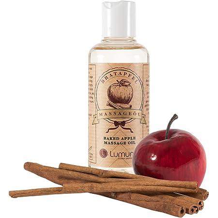 Aceite de masaje erótico con fragancia navideña a los afrodisíacos canela y manzana (100ml) para masaje corporal, sexo, masaje de pareja y masaje íntimo (100ml)