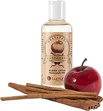 Huile de massage érotique avec un parfum hivernal de cannelle aphrodisiaque et de pomme..
