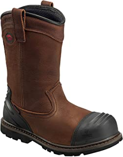 "Avenger Men's 11"" Leather Nanofiber Comp Toe Puncture Resistant Waterproof EH Rugged Wellington Boot"