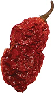 Wicked Tickle 10 Whole Ghost Pepper Dried Intact Seed Pods Plus 2 Free, Super Hot