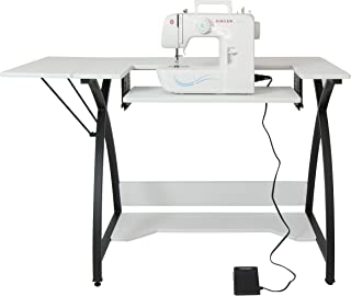 Studio Designs 13332 Comet Sewing Table with Singer 1304 Start Free Arm Sewing Machine with 6 Built-In Stitches