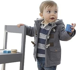 Unisex Baby Cotton Fleece Hooded Jacket Outerwear Duffle Zipper Coat