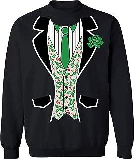 Pekatees Christmas Sweatshirt Christmas Ugly Tuxedo Sweater Christmas Tuxedo Suit