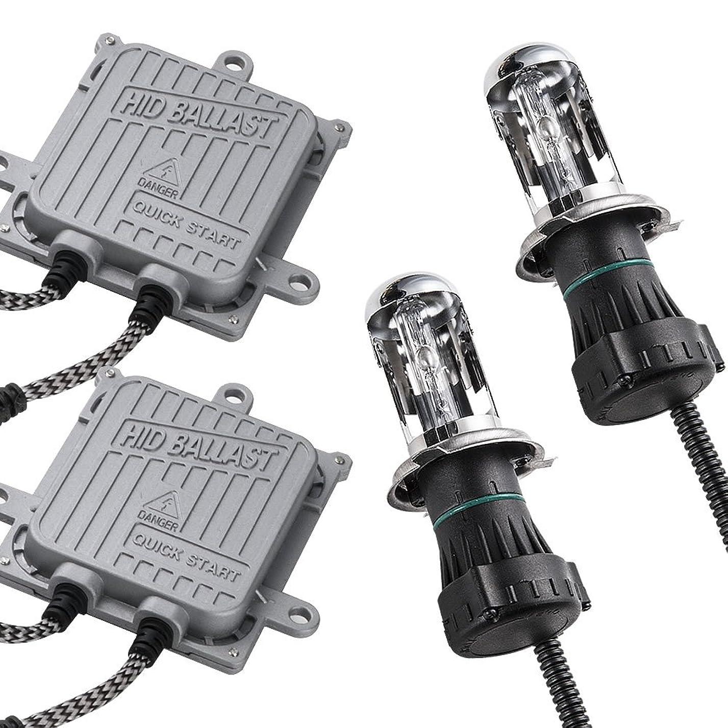 話序文受動的M900A/M910A ルーミー 極HIDキット 瞬間起動 H4 Hi/Lo切替 ヘッドライト フルキット 製品保証付 薄型バラスト 6000K 55W