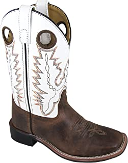 Smoky Children's Kid's Jesse Brown Distress and Brown Crackle Leather Western Cowboy Boot