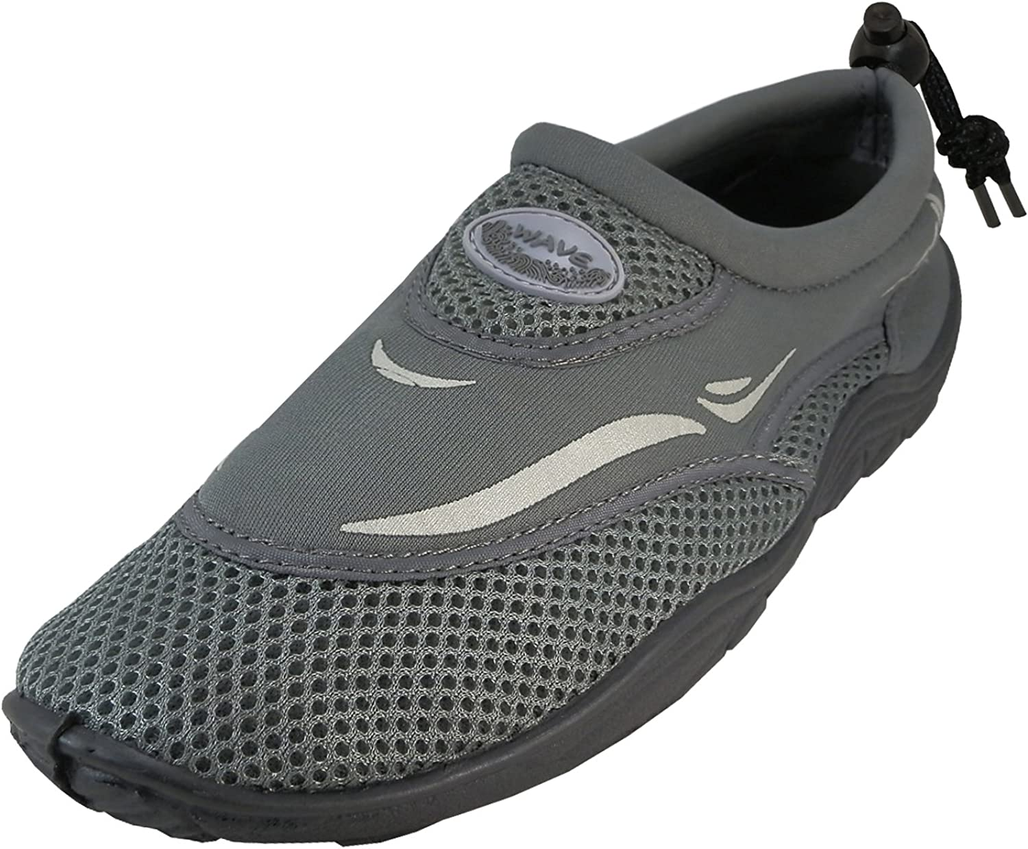 Cambridge Select Men's Slip-On Closed Toe Mesh Quick Dry Drawstring Water shoes