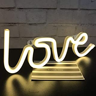 HONGMING Cute Neon Light,USB or Battery Decor LED Signs, Art Wall Lighting Decor for Home,Christmas,Party,Kids Living (LOV...