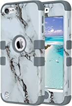 ULAK iPod Touch 7 Case, iPod Touch 6 Case, Heavy Duty Shockproof Protective Cover with Dual Layer Hard PC+ Soft Silicone for Apple iPod Touch 7th/6th/5th Generation (Marble Pattern)