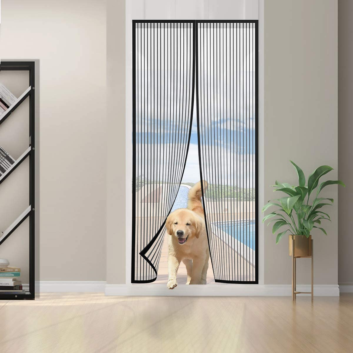 Award-winning store DX Magnetic Screen Door Mosquito Mesh Heavy Curta Cheap Duty with