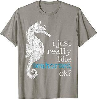 Seahorse Lover Marine Fish Underwater Vintage Gift T-Shirt