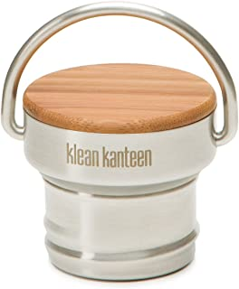 Klean Kanteen Bamboo Cap, Stainless Steel Leak Proof Water Bottle Cap with Sustainable Bamboo Top(Stainless)