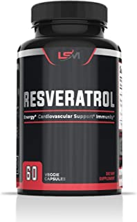 Resveratrol Capsules 1000 mg with Organic Turmeric/Curcumin, Give The Antioxidant Power, Support Blood Pressure and Sugar,...