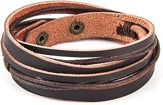 Best brown leather wrap bracelet Reviews