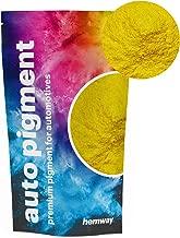 Hemway Premium Automotive Pearl Pigments Custom Automotive Paint, Plasti-Dip, Binders, Clear Coatings, Casting, Gel Coating, Resin, Powder Coating (Metallic Mustard Yellow, 1.8oz / 50g)