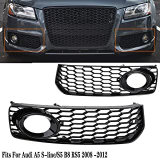 Kingsaid Car Front Grilles Plating Black Gloss Kidney Grill Grille Twin Bar 3 Series F30 F31 Black