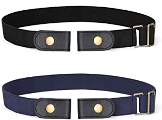 Buckle-free Elastic Women Belt for Jeans without Buckle, SANSTHS Comfortable Invisible Belt No Bulge No Hassle