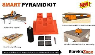 Complete Smart Pyramid Kit with 4 Pyramids, 4 Bench Dogs and 4 Painter Spikes