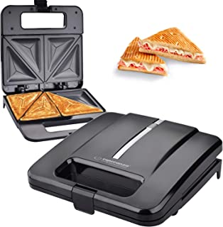Sandwich Grille-Pain Appareil à croque-monsieur 1000 W Revêtement anti-adhésif Noir