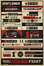 Pyramid America Fight Club Rules Typography Cool Wall Decor Art Print Poster 12x18