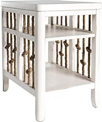 Liberty Furniture Industries Dockside II Chair Side Table, W18 x D24 x H26, White