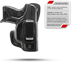 Winthrop Holsters IWB Single Spring Clip Black Leather Holster