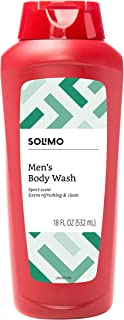 Amazon Brand - Solimo Men's Body Wash, Sport Scent, 18 fl oz