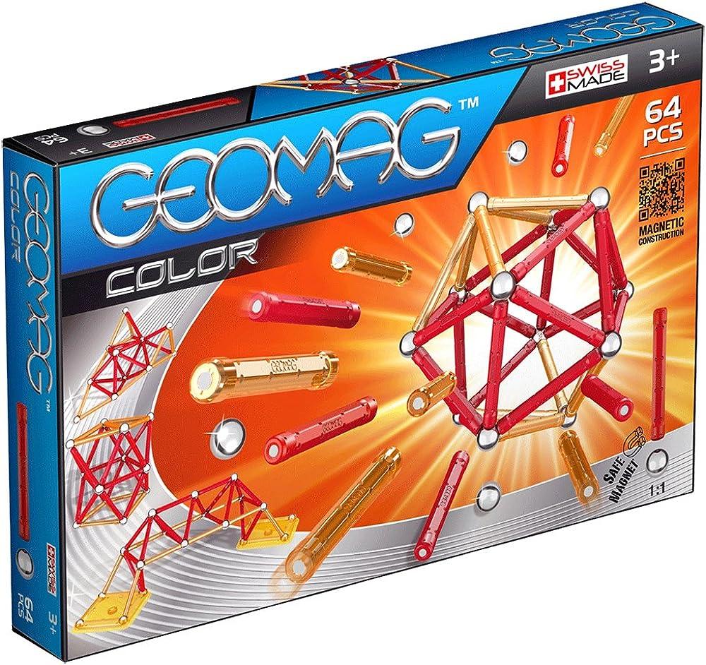 Geomag- color  costruzioni barrette magnetiche, 64 pezzi, multicolore 253
