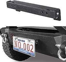Hooke Road Front License Plate Mount Frame Holder, fit All Jeep Wrangler 1955-2018 YJ TJ JK JL Sahara Rubicon Sport Unlimited