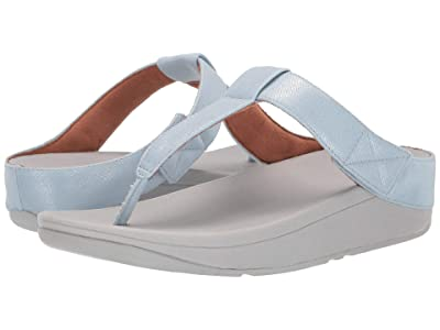 FitFlop Mina Toe-Thong (Light Blue Shimmer Denim) Women