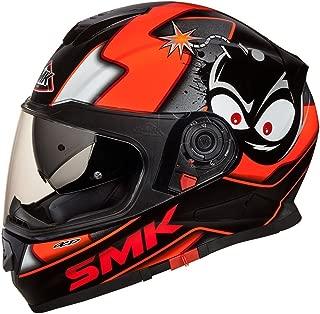 SMK MA271 Twister Cartoon Graphics Pinlock Fitted Full Face Helmet With Clear Visor (matt black, orange, xL)