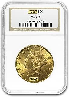 1850-1907 $20 Liberty Gold Double Eagle MS-62 NGC G$20 MS-62 NGC