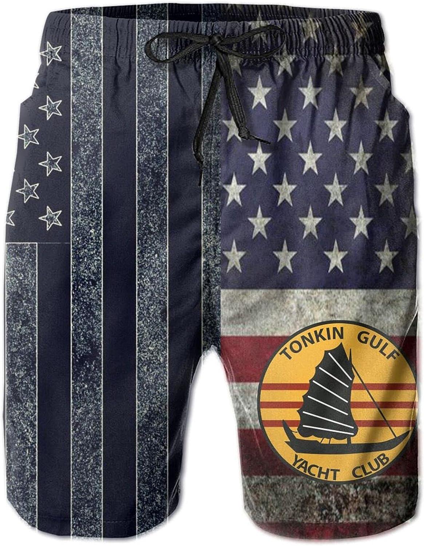 Zhoutatakngkeji Us Navy Tonkin Gulf Yacht Club Patch Military Veteran Adult Leisure Trunks Man's Swim Trunks