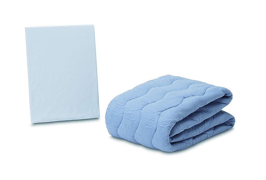 学者促進するリットルフランスベッド ベットパッド ブルー 97×195cm クラウディア 036035191