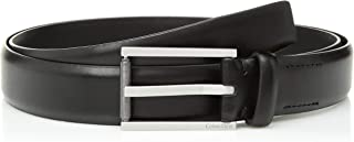 Calvin Klein Men's Feather Edge Dress Belt with Textured Roller Buckle