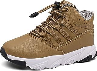 Botas de Nieve Unisex Niños Forrada De Piel Zapatillas de Deporte Invierno Zapatos Antideslizante Calientes Botines EU 23-37