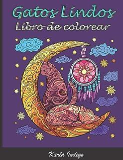 Libro de Colorear Gatos Lindos: Excelente entretenimiento anti stress para adultos - 50 Gatos...