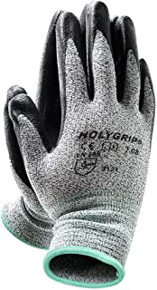 MicroFoam Nitrile Coated Work Gloves with Seamless Knit Nylon Shell, Non-Slip Safety Work Gloves Gardening Gloves with Durable Power Grip, Stretch Fit, Screen Touch - Medium (1 Pairs)