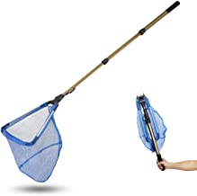 "SROOD Pool Skimmer Net with 50"" Telescopic Pole Leaf Skimmer Mesh Rake Net for Spa Pond Swimming Pool Fast Cleaning of The..."