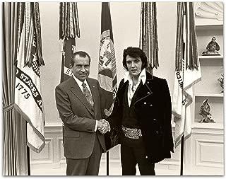 Lone Star Art Nixon Meets Elvis Presley - 11x14 Unframed Print - Great Gift for Elvis Fans