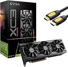 EVGA GeForce RTX 3080 XC3 Ultra Gaming Graphics Card, 10GB GDDR6X, VR Ready, PCIe 4.0, iCX3 Cooling, ARGB LED, Metal Backp...