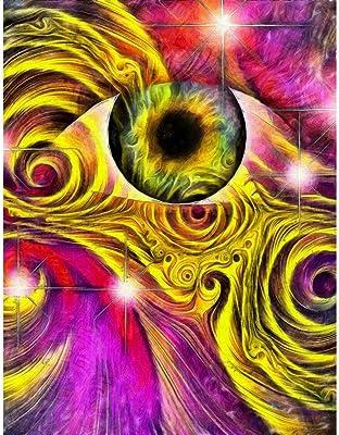ArtzFolio Hallucinagenic Style Eye & Pattern Peel & Stick Vinyl Wall Sticker 24inch x 31.4inch (61cms x 79.7cms)