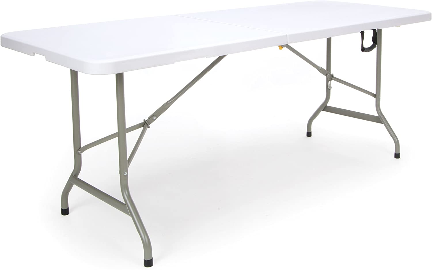 Essentials Center Folding Multipurpose Utility Table - Sturdy Card Conference Office Craft Plastic Table, 30  x 72 , White