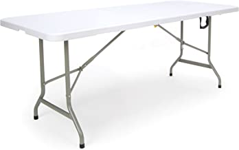 OFM Essentials Collection 6' Blow Molded Center-Folding Utiity Table, in White (ESS-5072F-WHT)